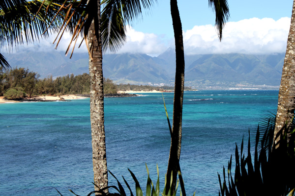 Beautiful ocean view of Paia Bay